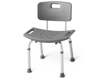 Bath chairs with backrests can also help those with decreased sitting balance.