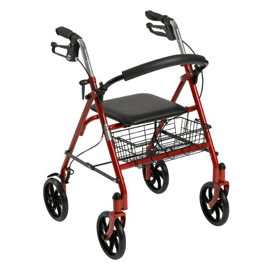 Rollator walkers can be used to enhance safety with walking.