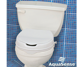 A raised toilet seat can make the toilet taller. As a result, it will be easier to get into standing as one sits higher.