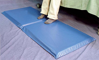 Fall mats can be used to minimize injury from a fall.